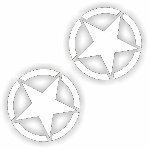 folien-zentrum 2 x Army Stern Usa Amerika Navy Hotrod Shocker Hand Auto Aufkleber JDM Tuning OEM Dub Decal Stickerbomb Bombing Fun w (Schwarz) (Schwarz) (Schwarz) (Schwarz) (Weiß)