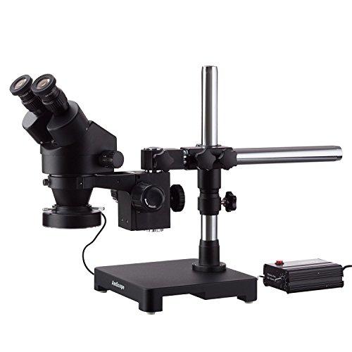 AmScope schwarz 6x Adidas Stereo Zoom Mikroskop mit Schwenkarm, mit 80-led ring-light