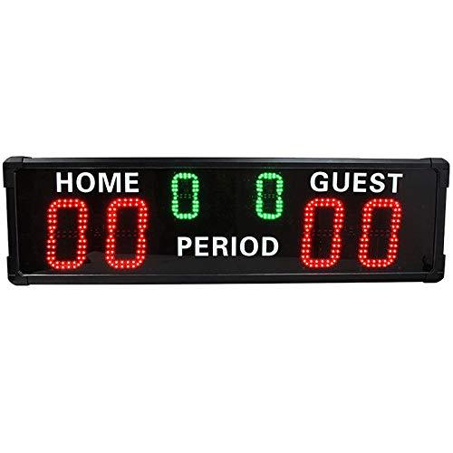 Marcador portátil Juego de Baloncesto LED Puntuación electrónico Puntuación Deportivo Puntuación de Juego Suministros de Juego para Tenis de Mesa Baloncesto (Color : Black, Size : 100x29.2x6.8cm)