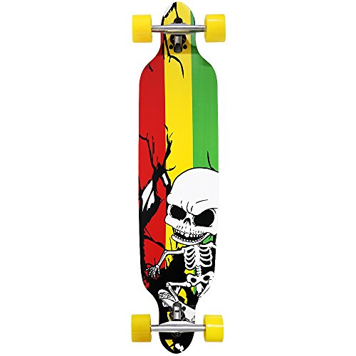 Atlantic Rift Longboard - 107x24cm - ABEC 9 - Drop Through Jamaica Komplettboard Motivauswahl