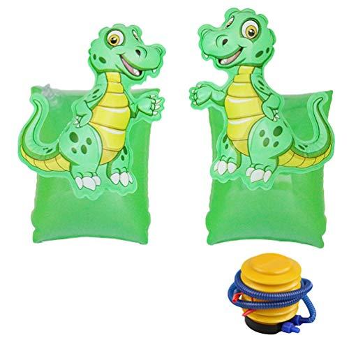 N / A - Mangas flotantes inflables para niños, diseño de dibujos animados, alas de agua, mangas flotadas, deportes acuáticos, aprendizaje de natación