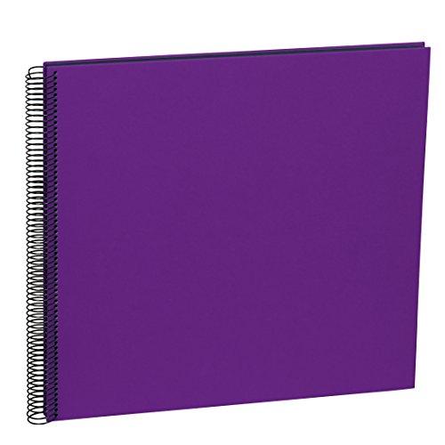 Semikolon (352911) Spiral Album Large plum (lila) - Spiral-Fotoalbum mit 50 Seiten u. Efalin-Einband -Spiralfotobuch mit schwarzem Fotokarton