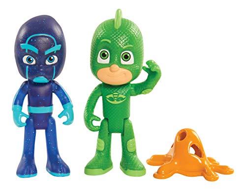 PJ Masks - Juego de 2 Figuras iluminadas de Gecko y de Ninja Nocturno