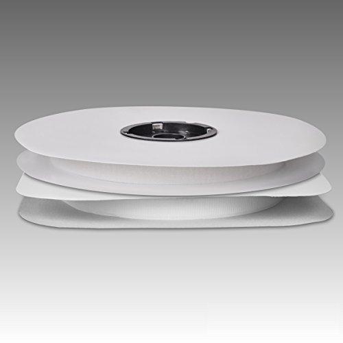 Klettband-Set 2 x 25 Meter Pilzkopfband + Veloursband selbstklebend weiß 20 mm breit 155P12P+155P17V-2025