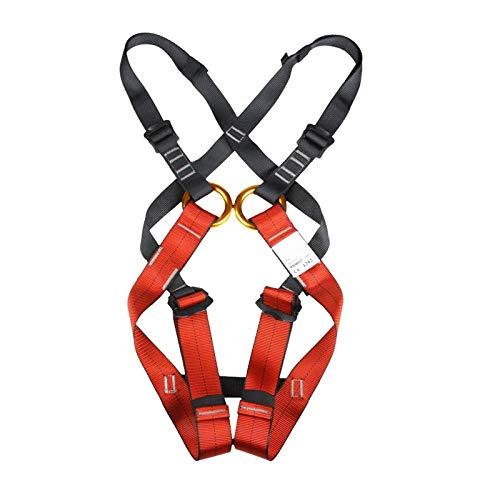YEXINTMF Arnés de escalada en roca, niños, protección de la caída de la seguridad de la seguridad del cuerpo completo, adecuado para niños menores de 14 años, escalada al aire libre y de la roca inter