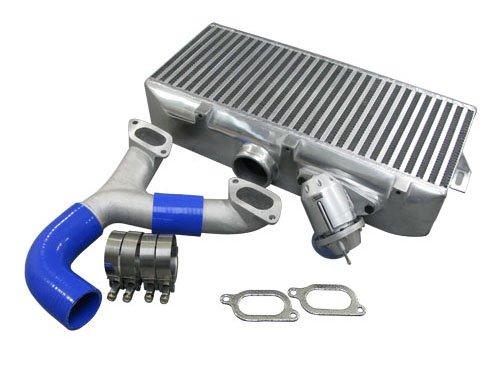 Top mount Intercooler + Y pipe + BOV Kit For 02-07 Subaru Impreza WRX Sti