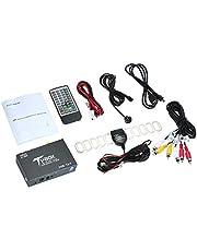 KKmoon DVB-T,DVB T2 Coche Sintonizador de TV Digital HEVC H.265 Receptor de Caja de TV Digital Móvil para Automóvil