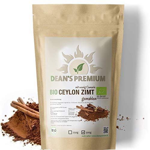 CEYLON ZIMT BIO PULVER 250g - 100% BIO-QUALITÄT - vegan - ohne Zuckerzusatz - mit geringem Cumarin - Verpackung 100% ohne Aluminium - abgefüllt und kontrolliert in Deutschland (DE-ÖKO-007)
