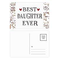 これまでに最高の娘の引用・ハート 公式ポストカードセットサンクスカード郵送側20個