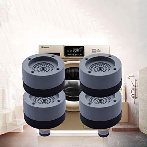 Mallalah - Patines antivibración para lavadora (4 unidades, universales, estabilizador pedestal para lavadora, refrigerador, accesorio grande para electrodomésticos, talla S, altura 2 cm)