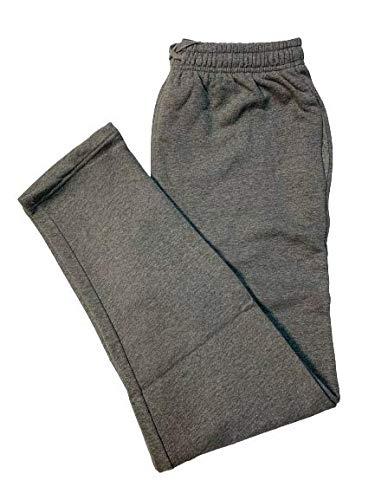 BE BOARD Pantalone Tuta Uomo Cotone Felpato Invernale 9036CONF Taglie Forti Colore Grigio Melange (5XL)