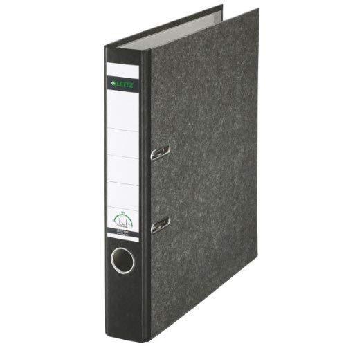 5er Pack Leitz 1050 Qualitäts-Ordner schmal (5cm), mit patentierter 180º-Präzisionsmechanik 8 Farben in verschiedenen Mengen zur Auswahl (5, schwarz)
