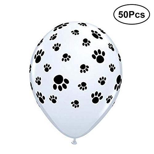 STOBOK 50 Stücke 12 Zoll Hund Pfote Druckt Luftballons Latex Ballons Geburtstag Party Hochzeit Gefälligkeiten Liefert Dekorationen