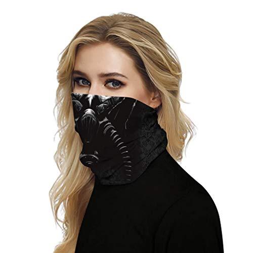 URIBAKY 3D Bedruckte Multifunktionstuch Gesichtsmaske Atmungsaktiv Schlauchtuch Damen Halstuch Schutzmasken,Herren Schlauchschal Outdoor UV Staubschutz Mund-Tuch Motorrad Fahrrad Joggen Schal