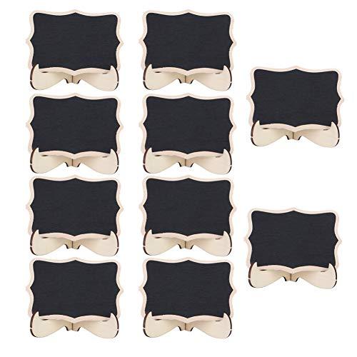 Mini pizarra, 10 piezas Mini pizarras Carteles de madera Pizarras Tablero de mensajes para la decoración del banquete de boda