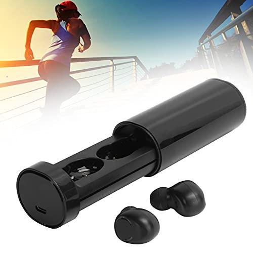 ROMACK Auriculares inalámbricos, batería de polímero de Litio de 50 MAh Ajuste cómodo Tecnología Bluetooth 5.0 Auriculares Bluetooth para Correr, Trotar o Hacer Ejercicio(Black)
