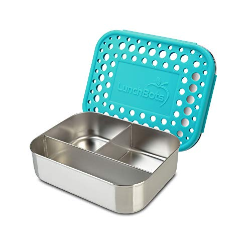 LunchBots Trío: Envase de comida de acero inoxidable. Diseño de tres...