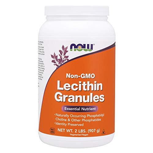 NOW Supplements, Lecithin Granules with naturally occurring Phosphatidyl Choline and Other Phosphatides, 2-Pound