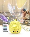 Bluefire Lampara Infantil Proyector,Bluetooth Proyector de Luz Nocturna para Bebes, Proyector Estrella Giratorio con Función de Mando a Distancia y 8 Música, Lindo Juguete y Regalo para Niños y Bebés