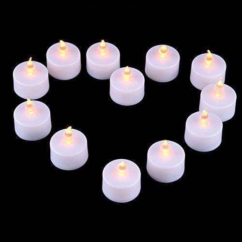 Candele a LED 12pcs Led Tea Light Candles Luce Lampada Realistica Candele Senza Fiamma Vovotrade