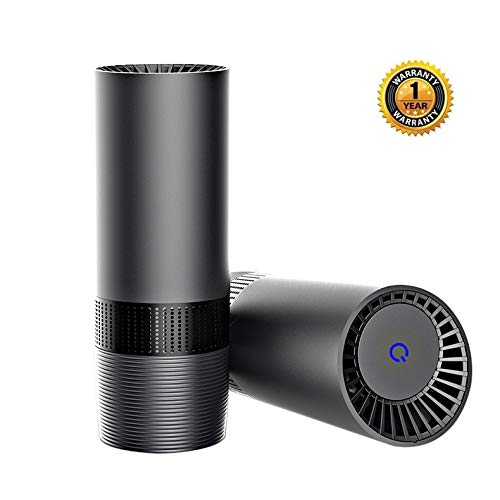 Purita Classic Car Air Purifier with Multi Layer HEPA Filtration - Grey