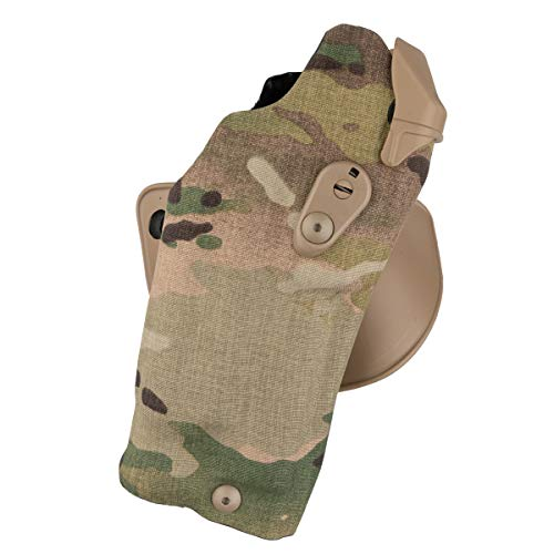 Safariland 6378RDS Automated Locking System Duty Holster, Red Dot Sight Compatible, Cordura Multi-Cam, Right Hand, Fits: Glock 19/23 Surefire X300U
