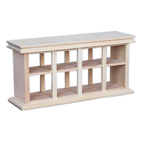 Sonoaud Mueble de madera de escala 1/12 en miniatura, para decoración de muebles, regalo para niños mayores de 3 años, color de madera