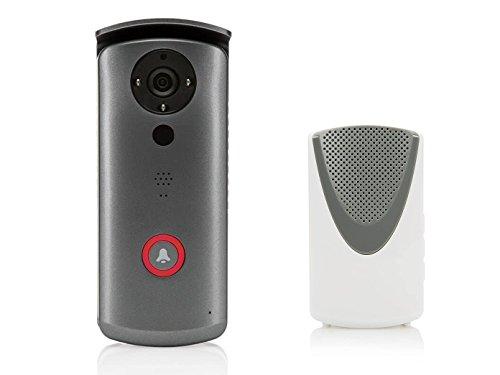 SEC24 DID502 - Video Campanello - Citofono video con qualità HD - Funzionalità Intercom - Motion Detector - Rilevatore di Movimento - WiFi, WLAN o LAN - Con Akku - Tra cui unità Campanello Senza Fili