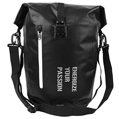 DAUERHAFT Waterproof Bike Rack Bag, Multifunction Bike Rear Seat Bags Package Cycling Equipment, for Mountain Bike Road Bicycle(Fully Waterproof-Black)