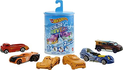 Hot Wheels Color Reveal, coche de juguete que cambia de color con el agua, modelo surtido (Mattel GYP13)