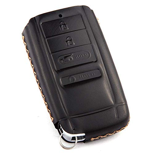 Cadtealir Calfskin Genuine Leather Key fob Cover case Holder for Acura RLX ILX TLX TSX MDX RDX RSX TL NSX (A Small)