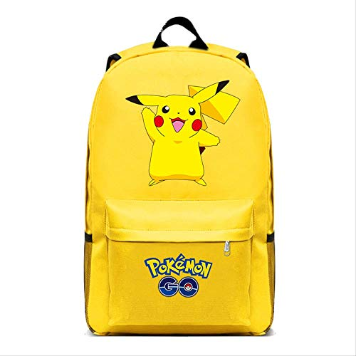 Anime Peripheral School Backpack Pikachu Schoolbag Pokemon Backpack Anime Peripheral Pokémon Backpack Male and Female Students Trendy Bag