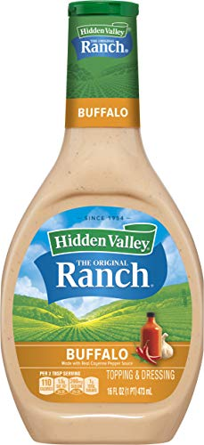 Hidden Valley Buffalo Ranch Salad Dressing & Topping, Gluten Free - 16 Ounce Bottle (Package May Vary)