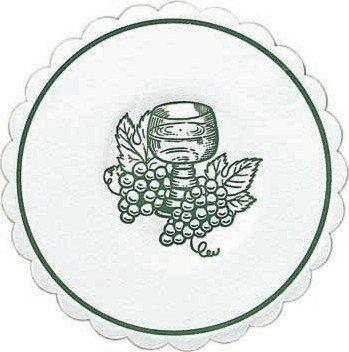 Duni Untersetzer 8lagig Tissue Uni Traube jägergrün, ø 10,5 cm, 250 Stück