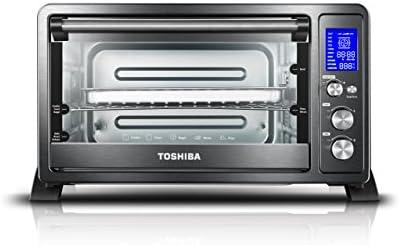 Toshiba AC25CEW-BS Horno de convección digital, 6 rebanadas de pan/pizza de 12 pulgadas, digital