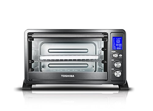Toshiba AC25CEW-BS Digital Toaster Oven with Convection cooking and 9