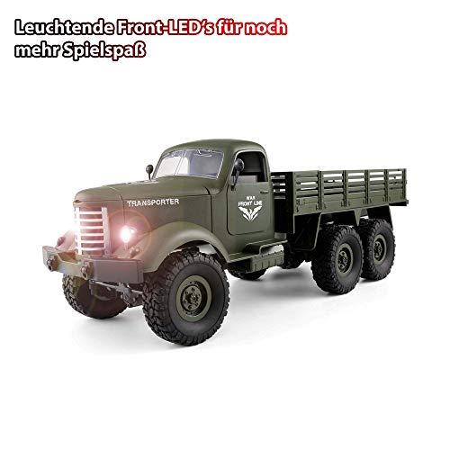 RC Auto kaufen Crawler Bild 2: HSP Himoto 2.4GHz RC Ferngesteuerter 6WD Off-Road Militär Army Truck Crawler Fahrzeug Transporter, Komplett-Set RTF*