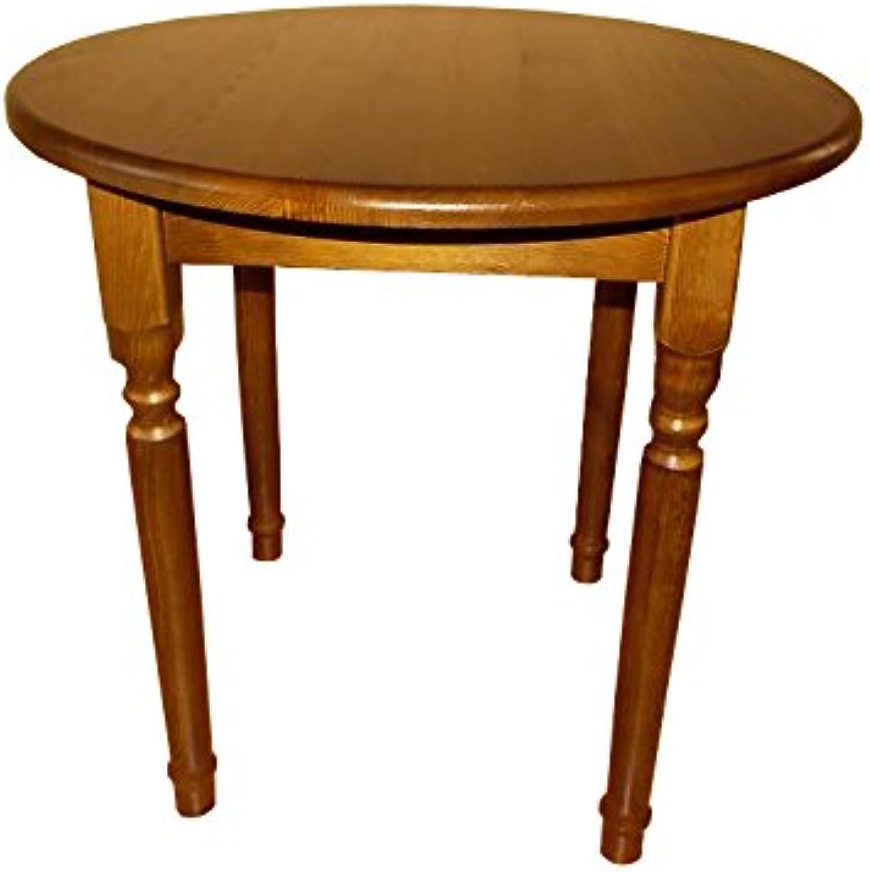 Küchentisch Esstisch Tisch Massiv Kiefer Holz Restaurant rund (60 cm, Eiche)