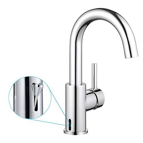ubeegol Messing Waschtischarmatur 360° Drehbar Wasserhahn Bad Armatur Waschbeckenarmatur Mischbatterie Badarmatur Einhand-Waschtischbatterie Einhebelmischer für Badezimmer(ohne Ablaufgarnitur)
