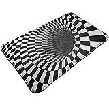 3D Spiral Optical Illusion Door Mat 50x80cm Bath Mat Non-Slip Kitchen Floor Carpet Mat 50x80cm
