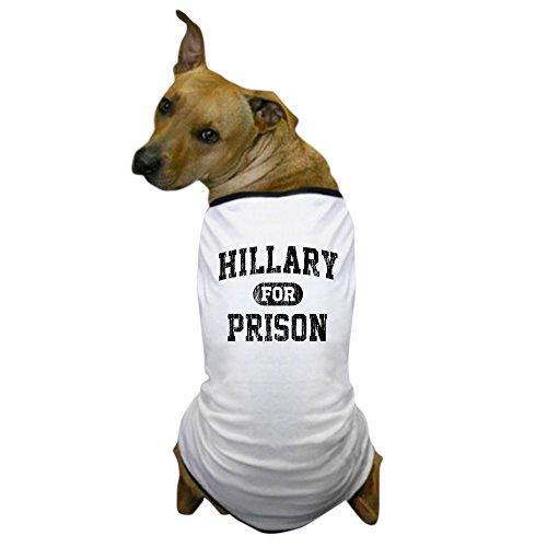CafePress Vintage Hillary for Prison Dog T Shirt Dog T-Shirt, Pet Clothing, Funny Dog Costume