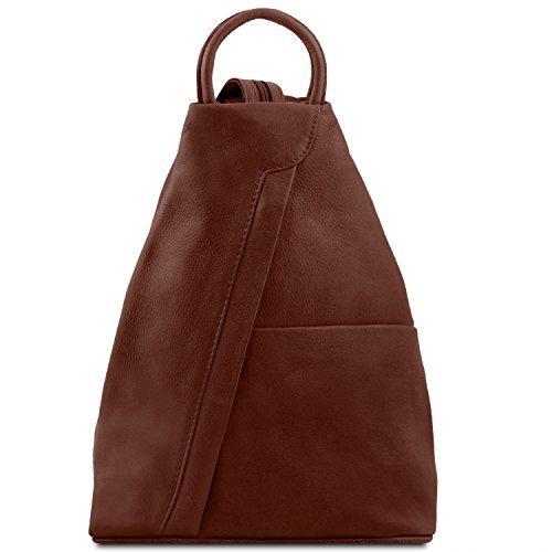Tuscany Leather - Shanghai - Rucksack Tropfendesign aus Leder Braun - TL140963/1