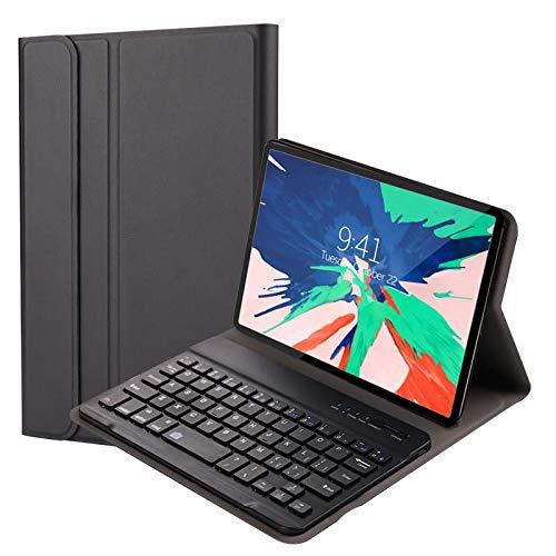 QYiD Funda con Teclado para New iPad Air 4 10.9 Pulgadas 2020, Carcasa Delgada Teclado Estuche Funda con Wireless Teclado Bluetooth para iPad 10.9 Pulgadas 2020/iPad Pro 11 2020/2018, Negro