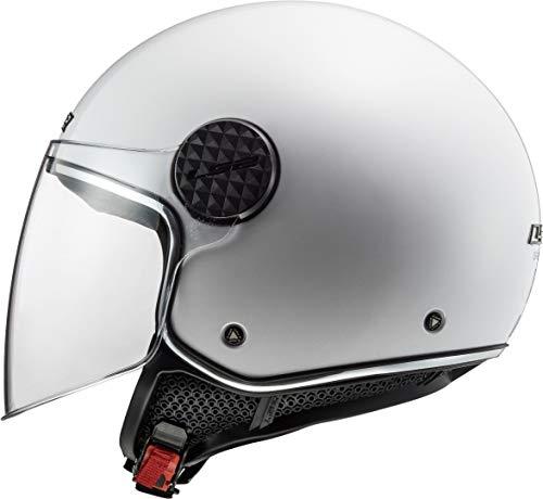 LS2 Casque moto OF558 SPHERE LUX Blanc, Blanc, M