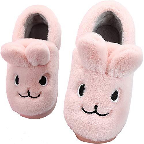 Lvptsh Zapatillas de Estar por Casa para Niña Invierno Caliente Pantuflas Antideslizante Niño Cálidode Slippers Casa