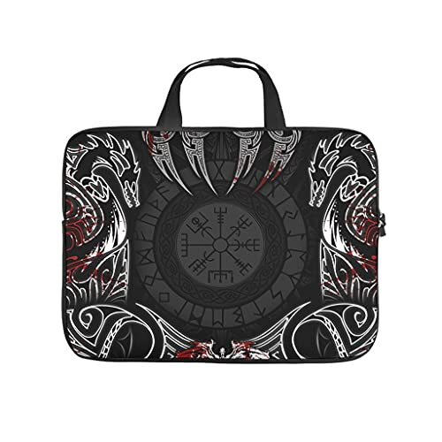 Multifunctional Viking Laptop Bag Case Laptop Case Sleeve Bag - Viking for Work/Business/College/Travel White 10 Zoll