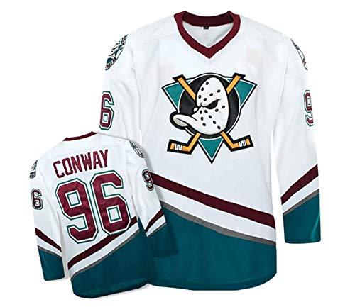 ZTT Charlie Conway #96 Mighty Ducks Film Eishockey Trikots Jersey Herren Sweatshirts Atmungsaktiv T-Shirt Bekleidung,XL