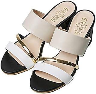 Blanc Blanc Sexy Chunky Heel Slippers