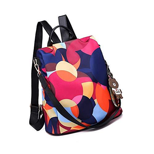 Anti Theft Women Backpack | Waterproof Oxford Ladies Back Pack Rucksack Colorful