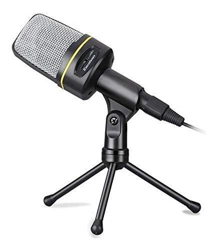 Microfone Condensador com Tripé Xtrad CH0805 para PC Notebook